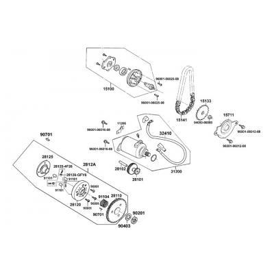 Startmotor - Oljepump