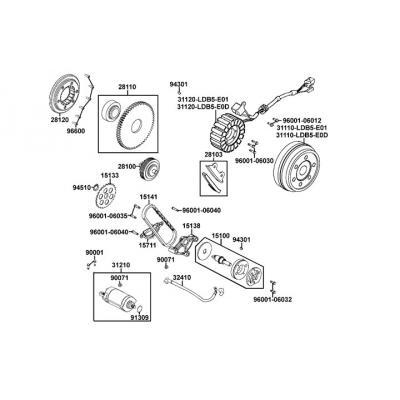 Startmotor - Bendixdrev - Oljepump - Tändplatta
